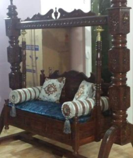 Wooden Teakwood Oonjal Jhula Unjal Indoor Swing H32