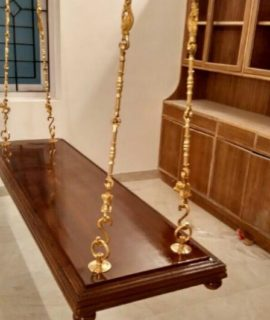 Full solid teakwood swing size 5x2 Rs 10000 Brass