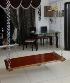 Full solid teakwood swing size 5x2 chennai